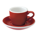 Loveramics Egg - Espresso 80 ml Cup and Saucer  - Red