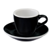 Loveramics Egg - Espresso 80 ml Cup and Saucer  - Black